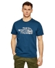 Leisure t-shirt The North Face MS / S WOOD DOME Cotton short-sleeved T-shirt Man Blue