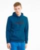 Sweatshirt hood pullover Puma ESS HOODY FL BIG LOGO Cotton man Blue