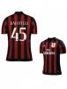 Ac Milan Adidas Balotelli 45 Maglia Calcio Rosso Nero maniche corte 2015 16