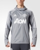 Training Sweatshirt Manchester United WARM TOP Grey Original adidas Men 2017 18
