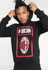 Hooded sweatshirt AC MILAN Puma Big Logo Cotton 2018 19 Black man