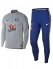 Chelsea Fc Nike Tuta Allenamento Training Drill Mezza zip 2018 19 Grigio