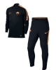 mezza zip As Roma Nike Tuta Allenamento Training Nero 2016 17 Uomo