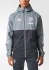 Manchester United Adidas Giacca vento pioggia k-way rain jacket 2017 18 Grigio