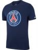 Crest Tee PSG Nike maglia Maglietta T-shirt tempo libero 2018 19 Blu Cotone