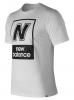 New Balance Essentials N BOX T maglia maglietta T-shirt Bianco cotone Uomo