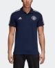 Polo Shirt MANCHESTER UNITED Adidas 3 Stripes Cotton 2018 19 short sleeves man Blue