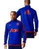 Sweatshirt Training Top Manchester United adidas Men\'s 2015 16 Original Blue