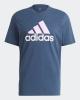 T-Shirt leisure adidas ESSENTIALS TIE-DYED INSPIRATIONAL CLEMIN Cotton Man Blue