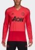 Manchester United Adidas Felpa Allenamento Training Top Rosso 2018 19
