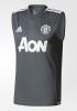 Manchester United Adidas Maglia Allenamento Training smanicato Grigio scuro