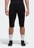 Manchester United Adidas Pinocchietti Pantaloncini Shorts 3/4 Pants Nero