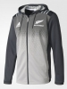 All Blacks New Zealand Adidas Giacca Allenamento Training hoodie Grigio 2017