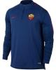 As Roma Nike Drill Top Felpa Allenamento Training Sweatshirt Blu 2017 18