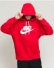 Nike Sportswear Club Fleece Cotton man hoodie with pockets Red