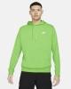 Hoodie Nike Sportswear NSW Club HD PO FT Cotton man with pockets Green