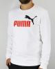 Sporty crewneck sweatshirt Puma Essential 2 Col Crew Sweat FL Big Logo Cotton man White