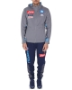 Presentation Tracksuit Cotton Napoli Kappa ARUOD 2 hoodie men's gray  2019 20