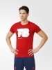 Manchester United Adidas T-shirt tempo libero 2016 Rosso Uomo