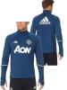 Manchester United Adidas Felpa Allenamento Training Sweatshirt Top Blu 2016 17