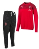 Tracksuit top AC MILAN Puma Casual Sweat Crew man cotton 2019 20 Red Black