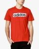 T-shirt leisure adidas Linear Brush cotton man Red 2019