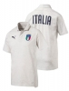 Italia FIGC Puma Polo Maglia 3 bottoni Bianco 2018 cotone Casual Performance