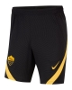 Trainingsshorts AS Roma Nike Dry Strike Man 2020 21 Taschen mit Reißverschluss Schwarz
