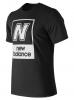 New Balance Essentials N BOX T Maglia Maglietta T-shirt tempo libero Nero