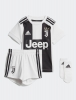 Juventus Adidas Mini Baby Completo Calcio home Bambino Bianco Nero Home 2018 19