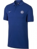 Chelsea Polo Nike Mens blue 2017 18-sleeved Cotton Piquet