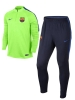 Barcellona Nike Tuta Allenamento Training Verde Drill Mezza zip 2017