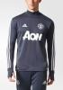Manchester United Adidas Felpa Allenamento Training Sweatshirt Grigio Scuro