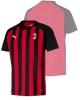 Ac Milan Puma T-shirt tempo libero fan supporters 2018 19 Rosso Nero Cotone