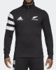 All Blacks New Zealand Adidas Giacca Felpa Fleece Top MEzza zip Mezza zip