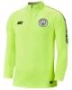 Training Sweatshirt Half zip Drill Top Manchester City Man yellow fluo 2019 Original Men\'s