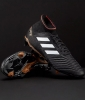 Football boots Shoes PREDATOR 18.3 FG Adidas with sock Black SKY STALKER