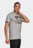 T-shirt leisure adidas BOS FOIL Tee cotton man Gray 2019