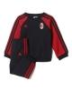 Ac Milan Adidas Tuta Tutina Kit Baby Neonato 2017 18 Rosso Nero Cotone Felpato
