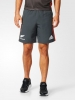 All Blacks New Zealand Adidas Pantaloncini Shorts Woven Grigio tasche a zip