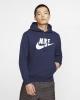 Nike Sportswear Club Fleece Cotton man hoodie with pockets Blue