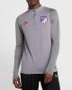 Training Sweatshirt ATLETICO MADRID Nike Drill Top Half zip Men\'s  2019 20 Gray Original