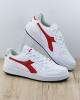 Diadora Scarpe Sportive Sneakers Sportswear Bianco Rosso Lifestyle Playground