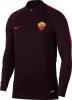 Drill top As Roma Nike Felpa Allenamento Training Sweatshirt Amaranto Mezza zip