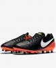 Nike Scarpe Calcio Football Tiempo Genio II Leather FG Uomo Nero arancio