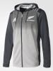 All Blacks New Zealand Adidas Giacca Allenamento Training hoodie Grigio