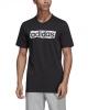 T-shirt leisure adidas Linear Brush cotton man Black 2019