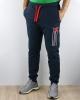 Diadora Pantaloni tuta Pants Sportswear Cuff Fregio Blu con tasche Cotone