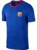 Barcelona Nike T-shirt Maglia Maglietta tempo libero 2018 19 Blu cotone