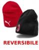 Reversible Mütze AC Milan Puma Wintermütze Original Unisex 2019 20 Rot Schwarz